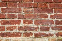 Стены старого красного кирпича стена текстуры кирпича старая Стоковая Фотография