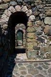 Стены старого форта стоковые изображения