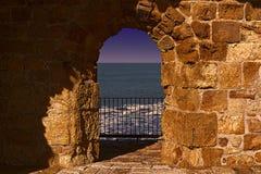 Стены Akko в Израиле Стоковые Изображения