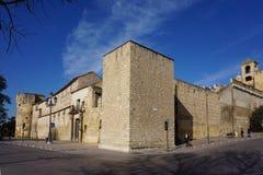 Стены Alcazar de Лос Reyes Cristianes, Cordoba, Испании стоковая фотография rf