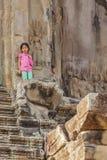 Стены Angkor Wat, Siem Reap, Камбоджа Стоковые Изображения RF