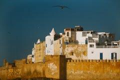 Стены Essaouira Medina, Марокко Стоковая Фотография