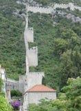 Стены Ston, Хорватии Стоковое Изображение
