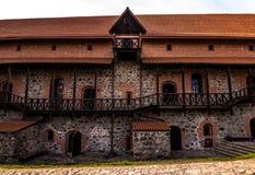 Стены Trakai, Литвы стоковое изображение rf