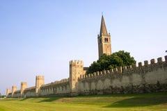 стены veneto montagnana Италии средневековые стоковые фотографии rf