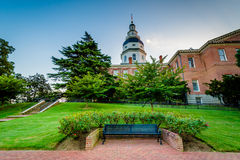Стенд и дом положения Мэриленда, в Аннаполисе, Мэриленд стоковые фото