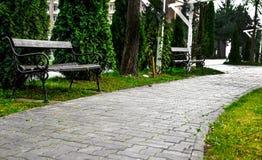 Стенд на переулке парка Стоковая Фотография