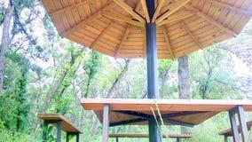 Стенды и таблица зонтика Стоковые Изображения RF