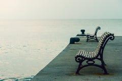 Стенды на морском побережье Стоковые Изображения