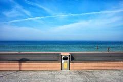 Стенды на портовом районе Балтийского моря в Польше Стоковые Изображения RF