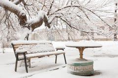 Стенд Snowy Стоковые Фото