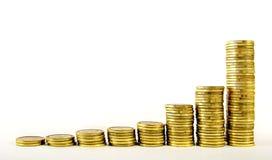степенный рост золота Стоковое фото RF