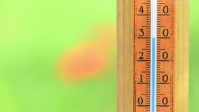 Степень температуры поднимая сток-видео