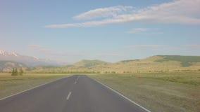 Степь Kurai и северный гребень Chuya на рассвете акции видеоматериалы