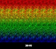 2015 - стереограмма - иллюзия изображения 3D Иллюстрация штока