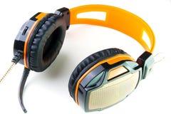 Стерео наушники с mic для музыки и кино стоковое фото rf