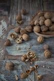 Стержени грецкого ореха и все грецкие орехи Стоковое Изображение RF