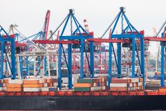 стержень корабля порта контейнера Стоковое Изображение