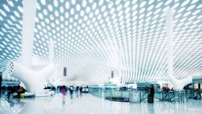 Стержень международного аэропорта Шэньчжэня стоковое изображение rf