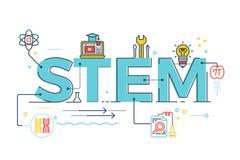 СТЕРЖЕНЬ - наука, технология, инженерство, математика иллюстрация штока