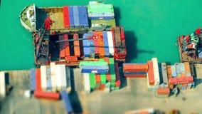 Стержень порта груза Hong Kong Промежуток времени, перенос наклона сток-видео