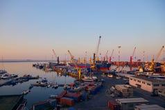 Стержень порта на зоре Стоковое Изображение