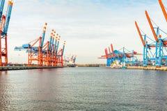 Стержень порта для нагружая и offloading кораблей Стоковое Изображение RF