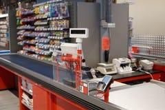 Стержень проверки в супермаркете Стоковые Изображения