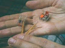 Стержни для прошивочных проводов разъем электрический Стоковая Фотография RF