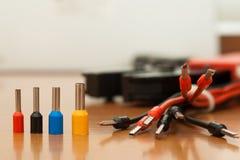 Стержни инструмента установки (crimp) для кабеля стоковое фото