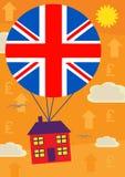 Стерлинговая цена на дом вверх Иллюстрация штока