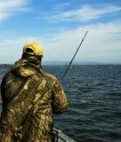 стерляжина океана рыболовства Стоковая Фотография