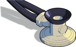 стетоскоп детали Стоковые Фотографии RF