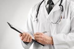 стетоскоп доктора clipboard стоковое фото rf
