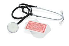 Стетоскоп и пакет перфокарт Стоковое Фото