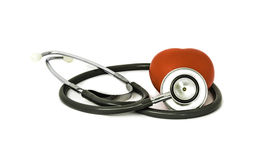 Стетоскоп и сердце Стоковое Фото