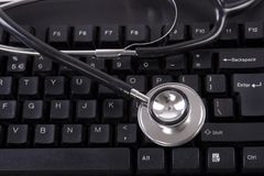стетоскоп клавиатуры Стоковое фото RF