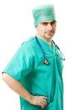 стетоскоп мужчины доктора Стоковая Фотография