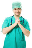 стетоскоп мужчины доктора Стоковое Изображение RF