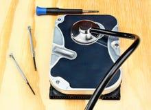 Стетоскоп на жёстком диске Стоковые Фото