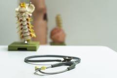 Стетоскоп на таблице доктора Стоковые Фото