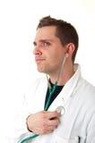 стетоскоп портрета доктора Стоковая Фотография