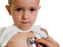 стетоскоп ребенка стоковое изображение