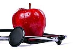 стетоскоп яблока стоковые изображения