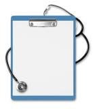 стетоскоп clipboard медицинский Стоковые Фотографии RF