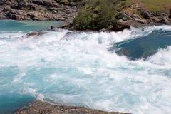 Стечение реки хлебопека и реки Nef, Патагонии, Чили Стоковая Фотография