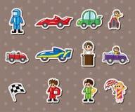Стикеры автомобильной гонки F1 Стоковое Изображение RF