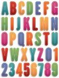 Стикеры алфавита иллюстрация штока