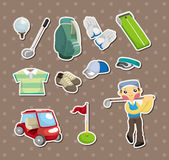 Стикеры гольфа Стоковая Фотография RF