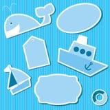 Стикеры для scrapbook иллюстрация вектора